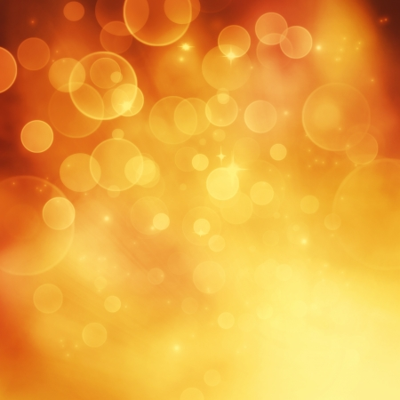 Festive winter  gold abstract  background with  bokeh lights and stars Stock Photo - 16803782