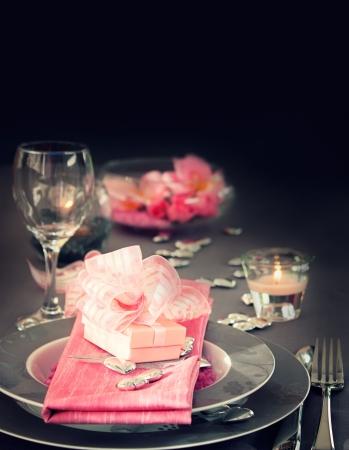 wedding table setting: Restaurant series  Valentine