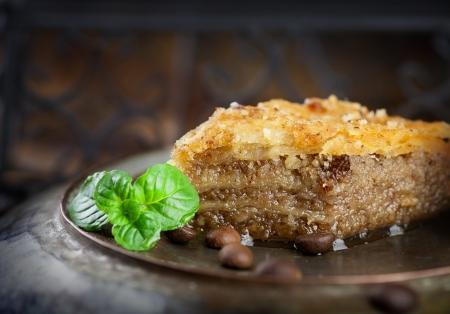 Baklava pastry dessert  Traditional turkish dessert  photo