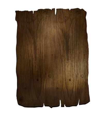 Designelement 3D planka tecken Rustik trä ombord Stockfoto