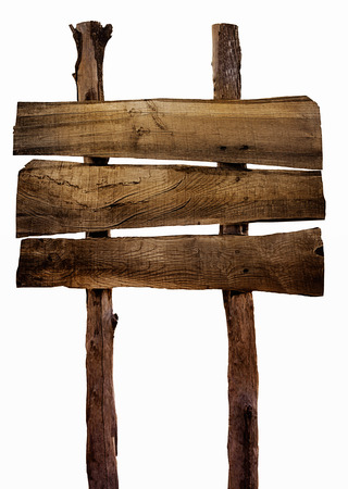 wooden plaque: Wooden sign isolated on white. Wood old planks sign.