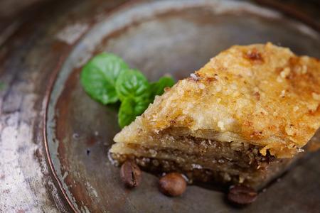 turkish dessert: Baklava pastry dessert. Traditional turkish dessert.