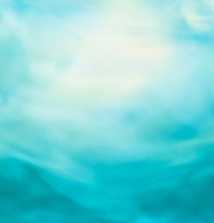 with ocean: Spring or summer abstract nature background with blue sea and sky. Ocean blur