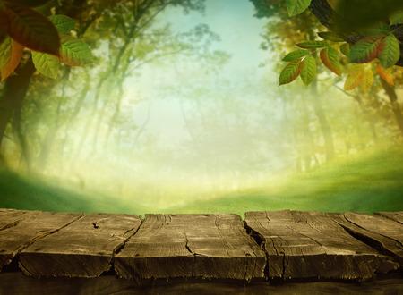 녹색 배경을 봄. 잔디와 클라우드 스케이프 아트 디자인. 여름 및 environmetal 풍경 개념입니다.