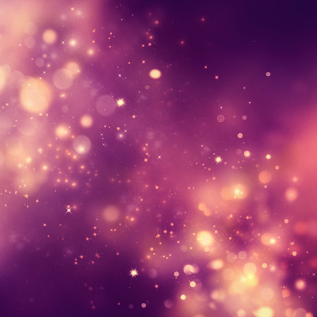 Christmas background. Festive xmas abstract background with bokeh defocused lights and stars