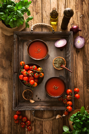 tomato soup: Tomato soup. Homemade tomato soup with tomatoes, herbs and spices. Comfort food.