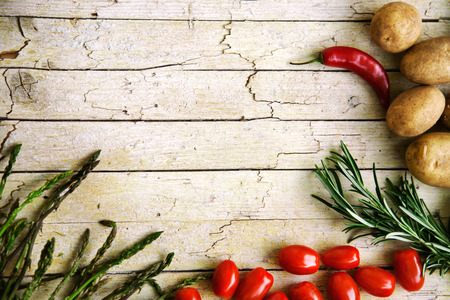 Fresh organic vegetables. Food background. Healthy food from garden photo