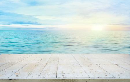 turquesa: Océano con la puesta del sol