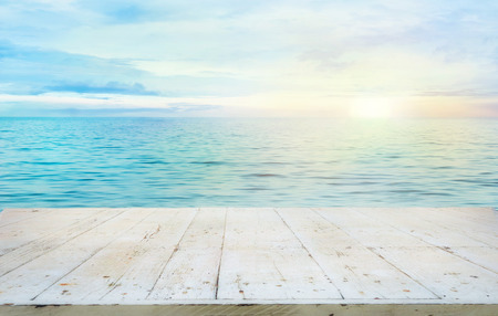 turquesa: Oc�ano con la puesta del sol