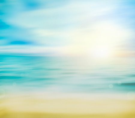 Summer ocean with sand Stock Photo