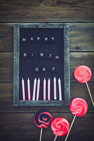 greeting card: Birthday background. Birthday celebration with copy space. Birthday greeting card