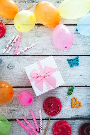 celebration background: Birthday background. Birthday celebration with copy space. Birthday greeting card