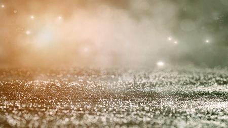 お祭りの背景。ボケは背景をぼやけています。キラキラ ビンテージ ライト 写真素材