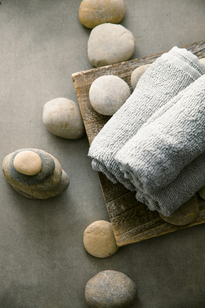 Spa and wellness. Natural massage stones. Spa treatment