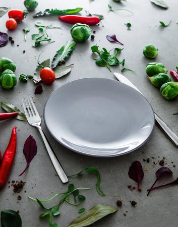 Fresh vegetables.Food layout. Vegetables variety