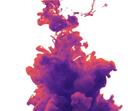 Ink in water. Purple ink splash