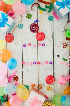 Birthday background. Birthday celebration with copy space. Birthday greeting card