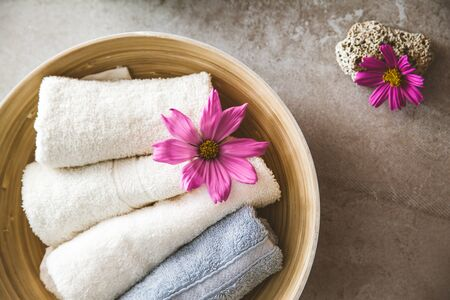 Spa products and cosmetics. Dayspa cosmetics products. Spa and wellness setting.