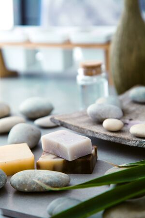 Spa and wellness. Natural soap. Spa treatment.