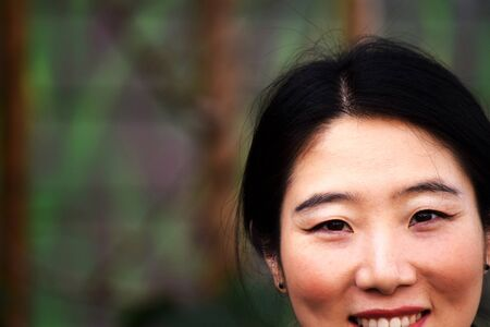 A Beautiful Woman Smiles
