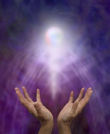 divine: Spirituele genezing orb Stockfoto