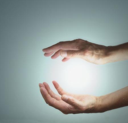 energia espiritual: Manifestaci�n de la Energ�a Foto de archivo