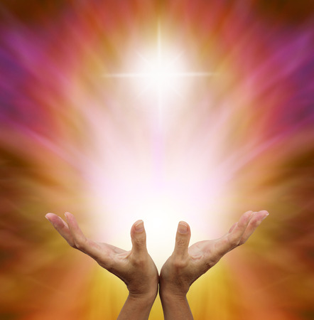 Beautiful Golden Healing Energy Stock Photo - 28605983