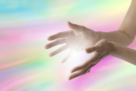 regenbogen: Kleur Energie Healer Stockfoto