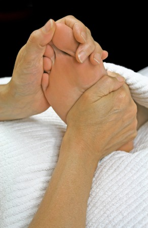 Soothing warm up prior to Reflexology Treatment