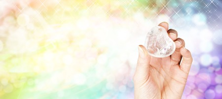 Crystal healing website banner Stock Photo - 28683341