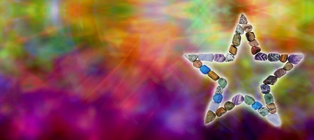 Crystal Healing Website header Stock Photo - 28685147