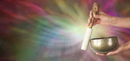 vibrations: Sound Healer s website banner Stock Photo