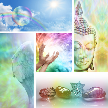 Holistic Healing Collage Stock Photo - 28872719