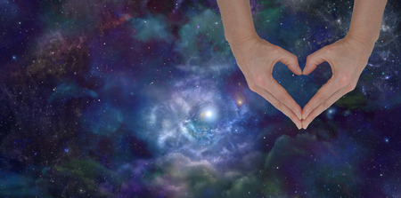 spirit healer: Love the Universe Stock Photo
