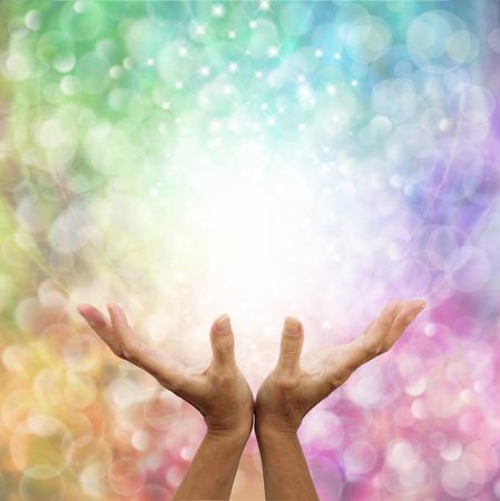 天使のような虹の癒しのエネルギー