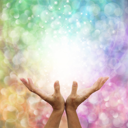 Angelic Rainbow Healing Energy Stock Photo - 28872818