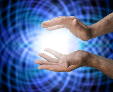 alternative healer: Male healer with matrix energy