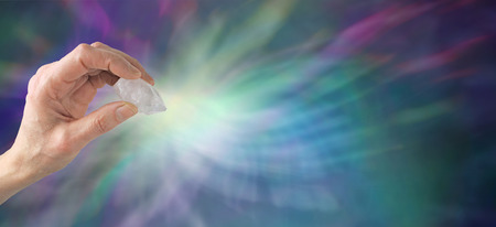 Crystal healing website banner Stock Photo - 28872830