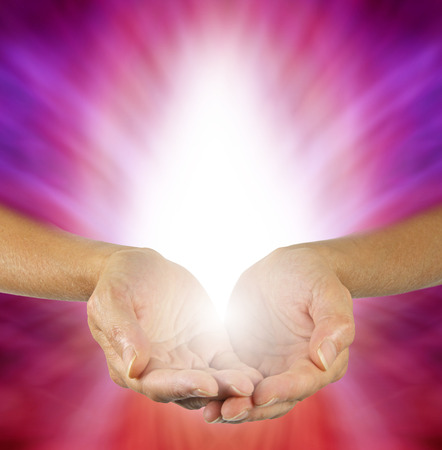 energy healing: Purple Magenta Healing Energy