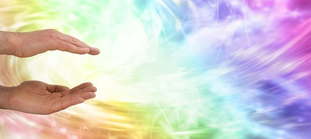 Male healer website banner Stock Photo - 29023674