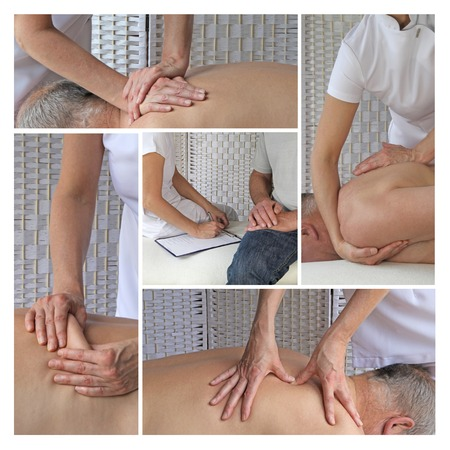 alternative therapies: Sports Massage Therapy Stock Photo