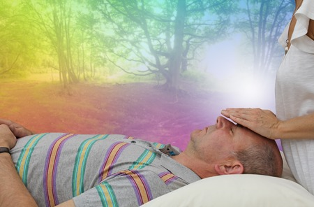 aura energy: Beautiful healing dream Stock Photo