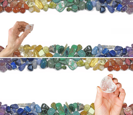 crystal therapy: Two Crystal Healing Website Banners Stock Photo