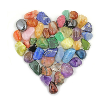 energia espiritual: Coraz�n de Cristal Foto de archivo