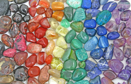 Rainbow Crystal tumbled stones photo