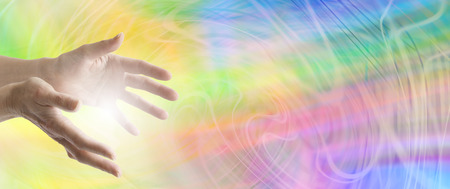 complementary therapy: Colour Healing website banner Stock Photo