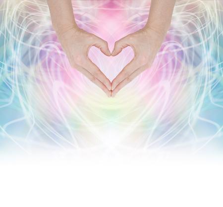 mind body soul: Cuore Healing Energy Archivio Fotografico
