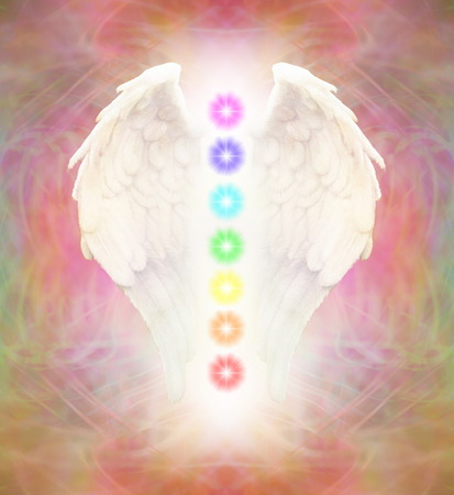 chakras: Reiki Angel Wings and Seven Chakras