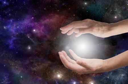 宇宙ヒーリング 写真素材