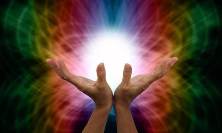 magnetismo: Healer Invio Guarigione a distanza Archivio Fotografico